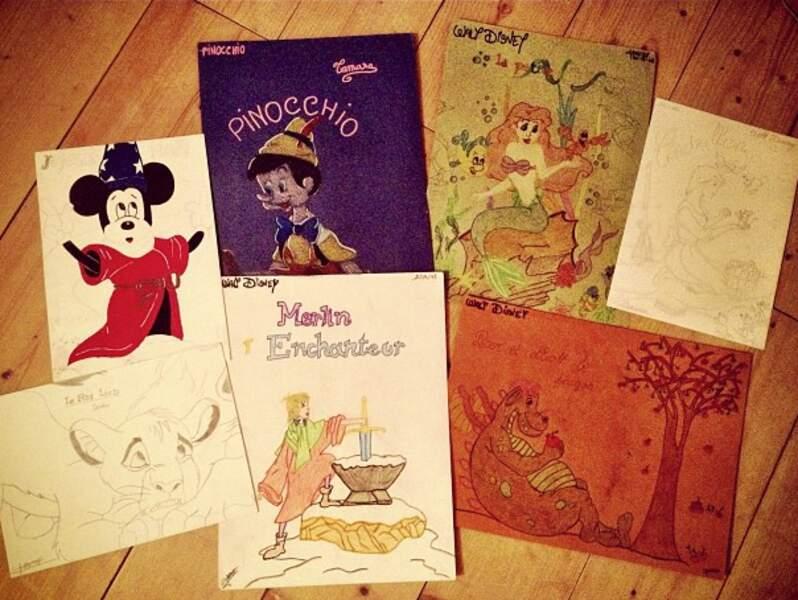 Shy'm faisait de beaux dessins quand elle était petite, c'est mignon non ?