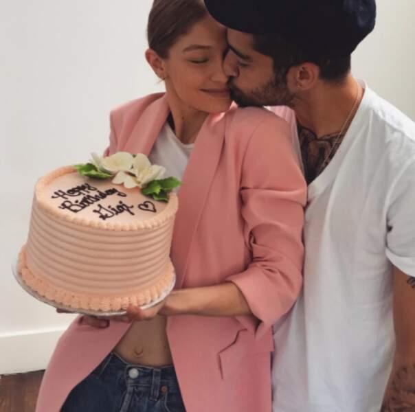 Ce week-end, sa copine Gigi Hadid a fêté son 22e anniversaire en bonne compagnie.