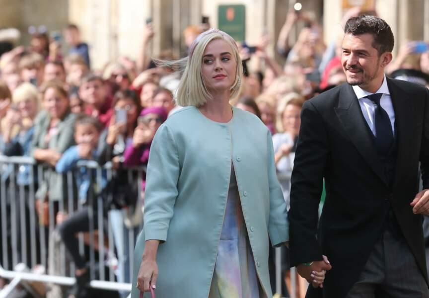 Comme de nombreuses autres stars, Katy Perry et Orlando Bloom assistaient au mariage d'Ellie Goulding ce 31 août