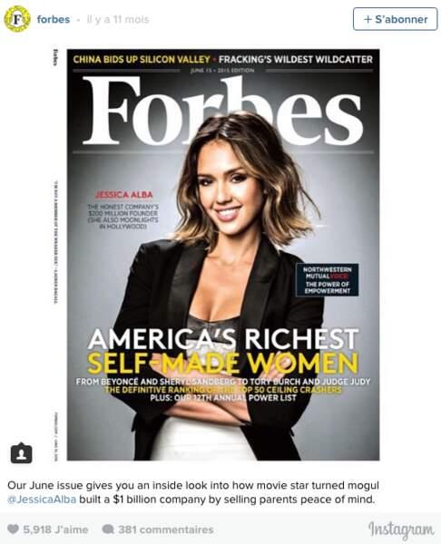 """En 2015 elle a été nommée """"Auto-entrepreneuse la plus riche des Etats-Unis"""", bravo !"""