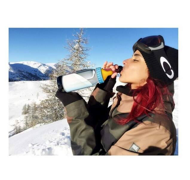 Sympa cette photo au ski !