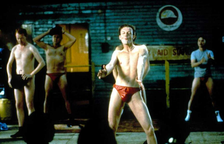 "Steve Huison, Tom Wilkinson, Hugo Speer, Robert Carlyle, alias les ""chippendales"" de The Full Monty"