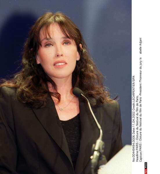 Présidente d'honneur du jury du Festival du film de Paris en 2002