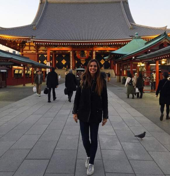 Et on se laisse avec les photos souvenirs de Marine Lorphelin au Japon...