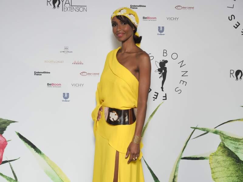 Sonia Rolland a fait forte impression sur le tapis rouge du Gala des Bonnes Fées