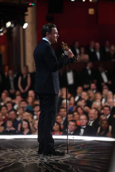 Voilà à quoi ressemble la vue d'un gagnant aux Oscars, et quel gagnant !