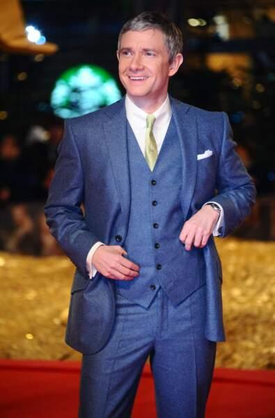 Style plus british dans la vie pour Martin Freeman !