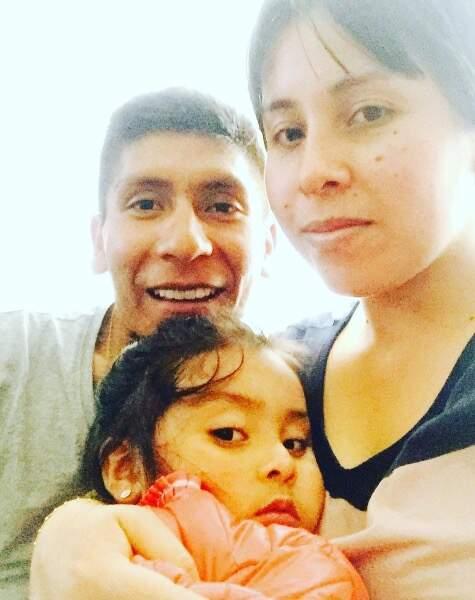 Nairo Quintana et sa compagne Yeime Paola Hernandez ont accueilli la petite Mariana en 2014
