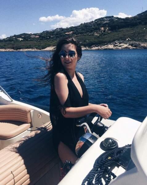 La youtubeuse Horia faisait du bateau à Calvi.