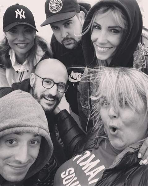 Valérie Damidot avec Artus, Cartman, Hugo Clément, Ariane Brodier et Alexandra Rosenfeld