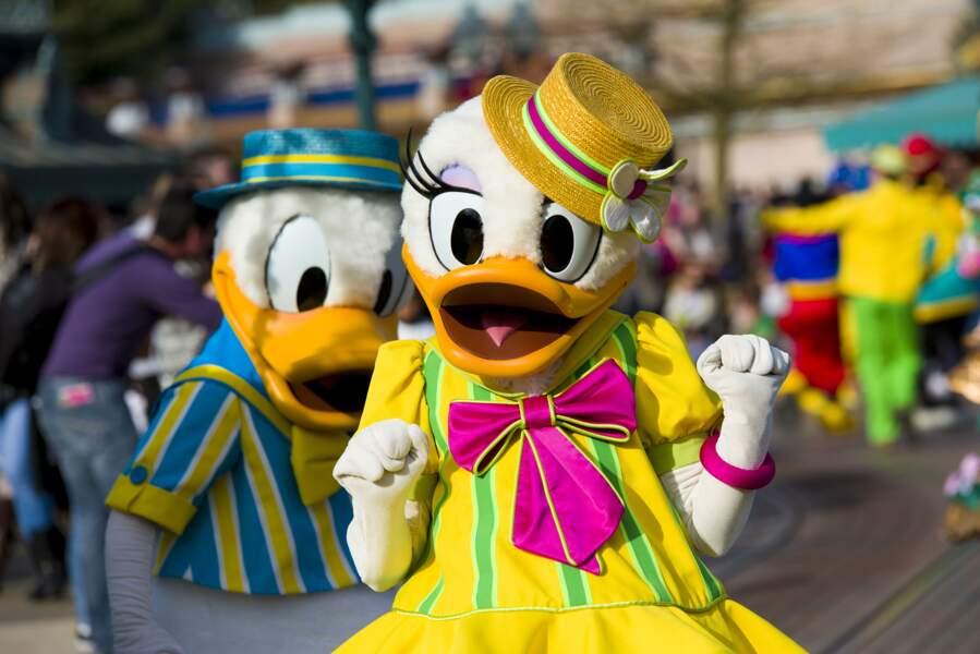 Daisy et Donald fêtent l'arrivée du printemps à Disneyland Paris