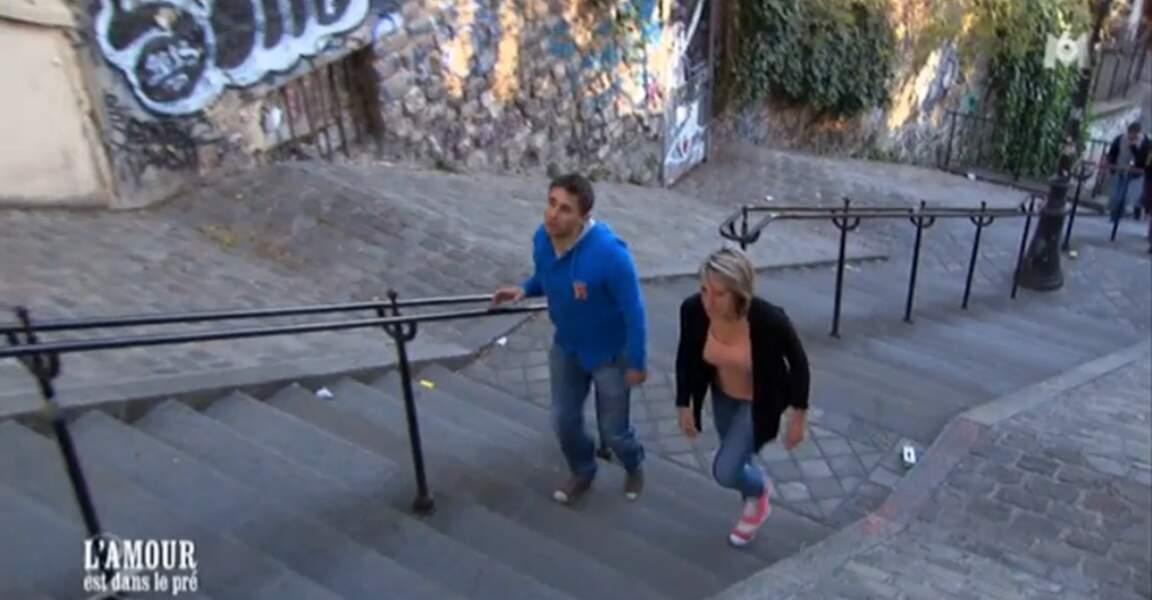 Allez, pour digérer, une petite montée des escaliers à Montmartre