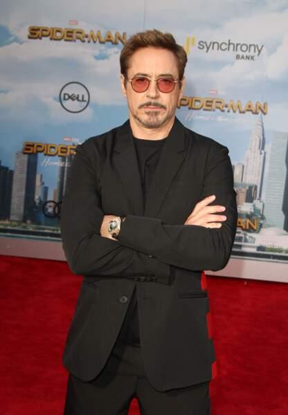 L'acteur a renfilé son armure d'Iron Man pour l'occasion