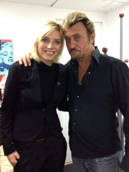 Tiens, Nadège a également rencontré Johnny Hallyday dans la même journée ? Bizarre...