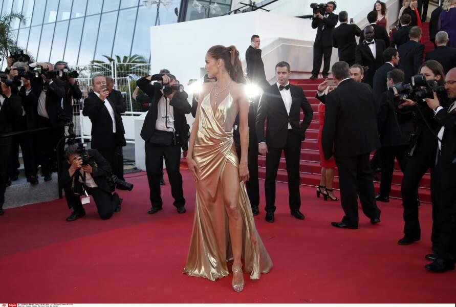 La top Izabel Goulart représentait le glamour