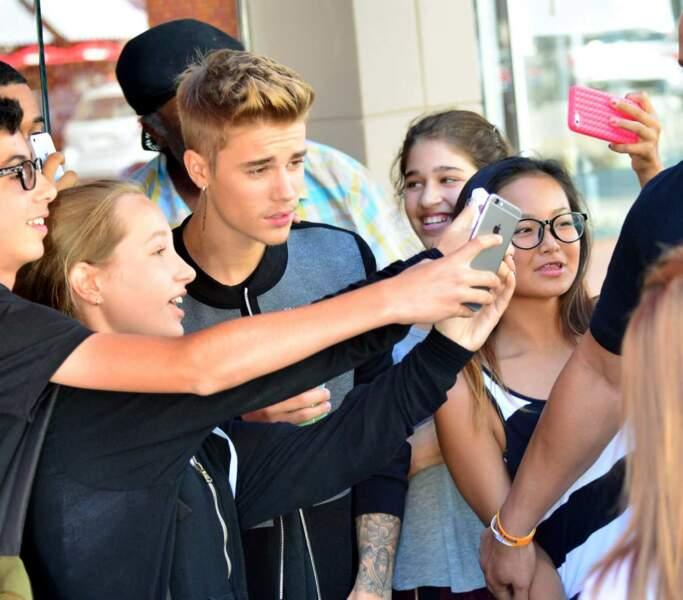 Quand Justin Bieber passe, les fans ne sont jamais loin !