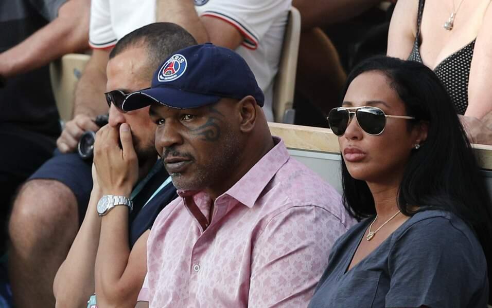 …et surtout Mike Tyson, qui a assisté au match opposant Serena Williams à Julia Georges