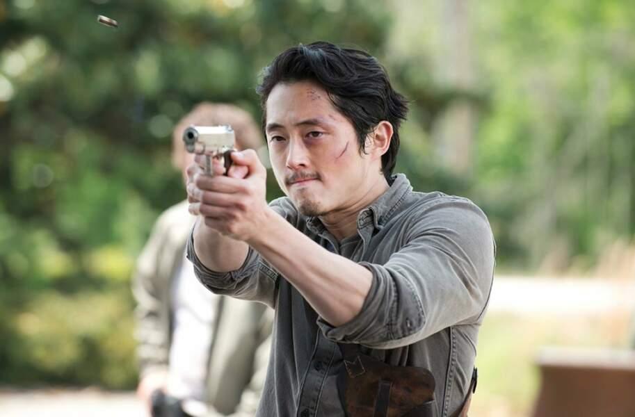 Et Steven Yeun (Glenn) a filé une belle frayeur à ses fans !