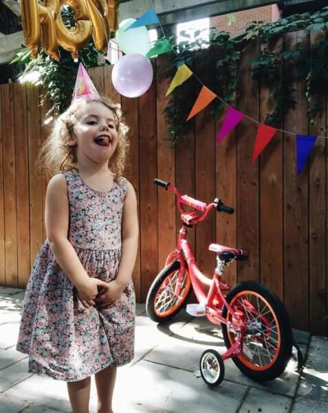 Autres enfants mignons : Romy, la fille de Coeur de Pirate, qui fêtait son 4e anniversaire.