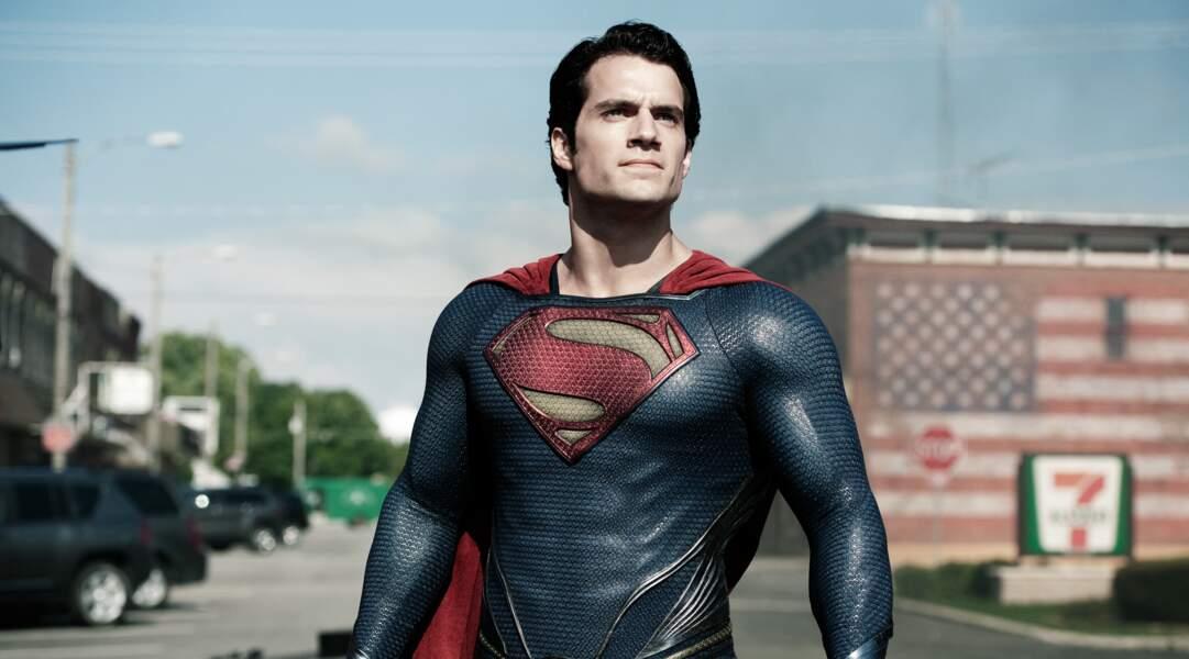 Henry Cavill, kryptonien musculeux dans Man of steel (2013)