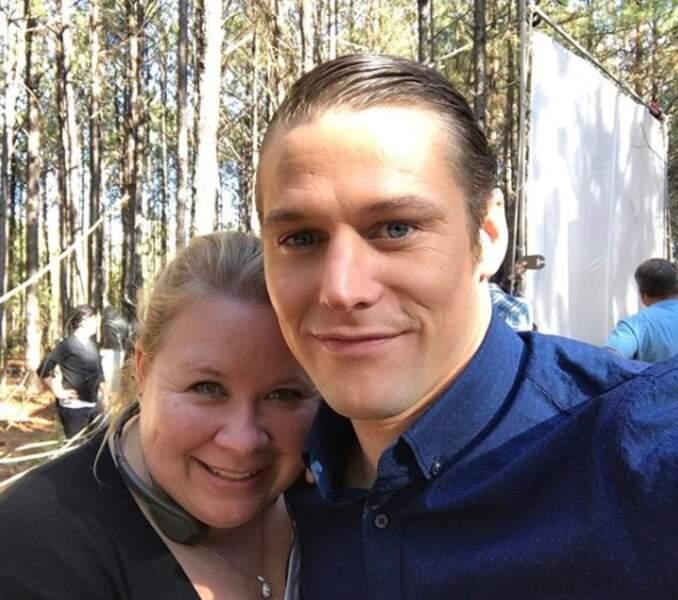 Ici en compagnie de Julie Plec (la co-créatrice de Vampire Diaries), il a joué un guest dans The Gifted.