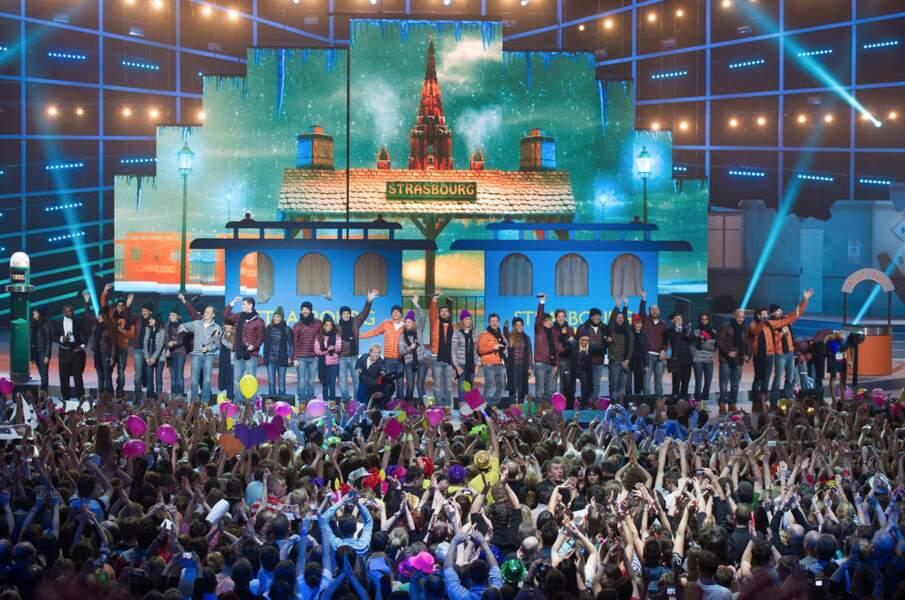 L'ambiance était démente à Strasbourg lors de la série de concerts des Enfoirés.