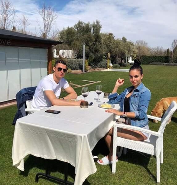 Cristiano Ronaldo a passé son lundi de Pâques avec sa copine, Georgina Rodriguez