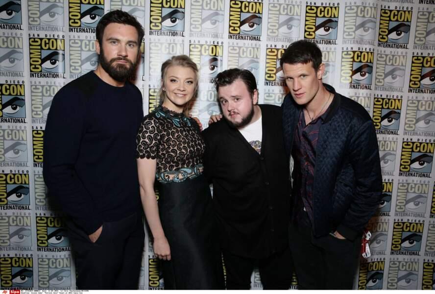 Le cast de Patient Zero : C. Standen (Vikings), N. Dormer et J. Bradley (Game of Thrones) et M. Smith (Doctor Who)