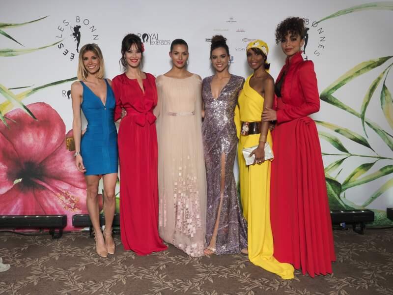 Alexandra Rosenfeld, Mareva Galanter, Camille Cerf, Marine Lorphelin, Sonia Rolland, Flora Coquerel réunies