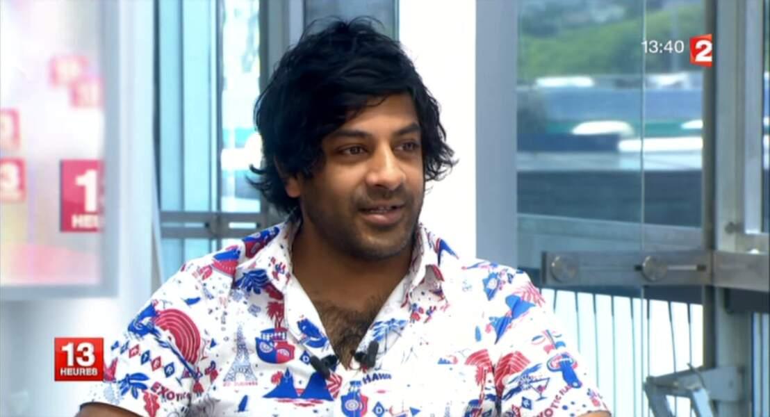 """Dans la catégorie """"couleurs"""" : Vikash Dhorasoo, et sa chemise tricolore"""