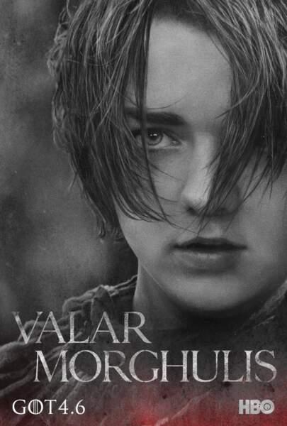Maisie Williams incarne Arya Stark, cadette de Ned