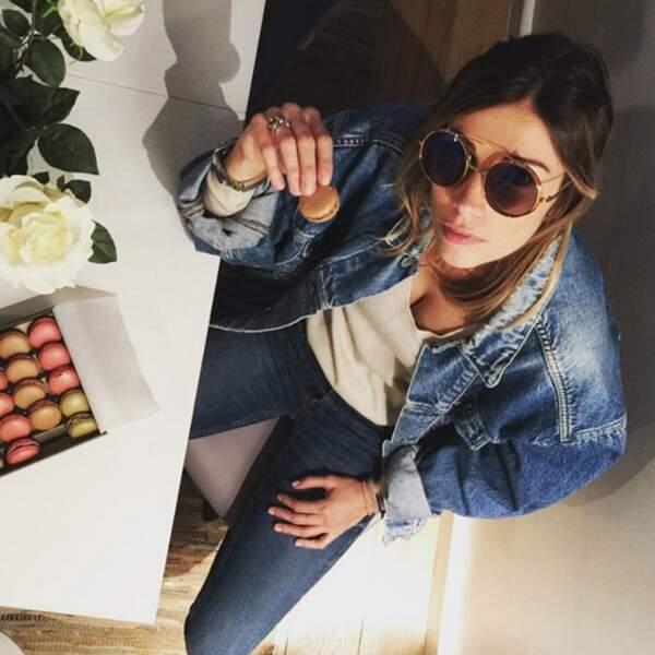 Pendant ce temps-là, Alexandra Rosenfeld fêtait ses 29 ans avec des macarons sans gluten.