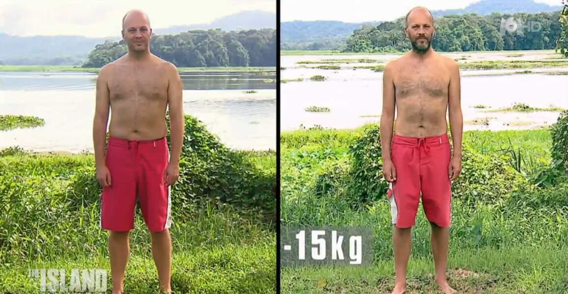 Yannick, le quatrième cadreur du groupe, a perdu 15 kilos. Impressionnant !