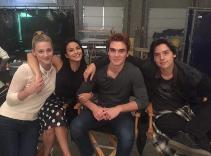 Betty, Veronica, Archie et Jughead, quatre des héros adolescents de Riverdale