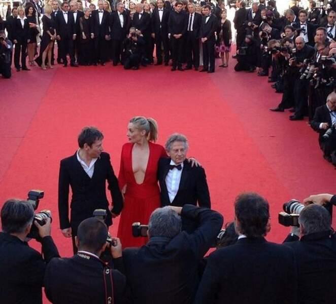Roman Polanski, Emmanuelle Seigner et Mathieu Amalric sont encerclés