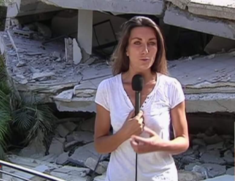En 2010, elle est envoyée spéciale pour TF1 à Haiti après le terrible tremblement de terre.