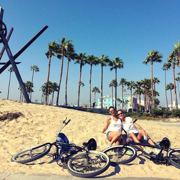 Elle vient d'ailleurs de passer ses vacances à Los Angeles. Et ça se voit, au vélo, elle préfère la plage.