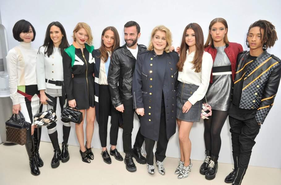 Lea Seydoux, Catherine Deneuve, Selena Gomez, Adele Exarchopoulos et Jaden Smith au show Louis Vuitton