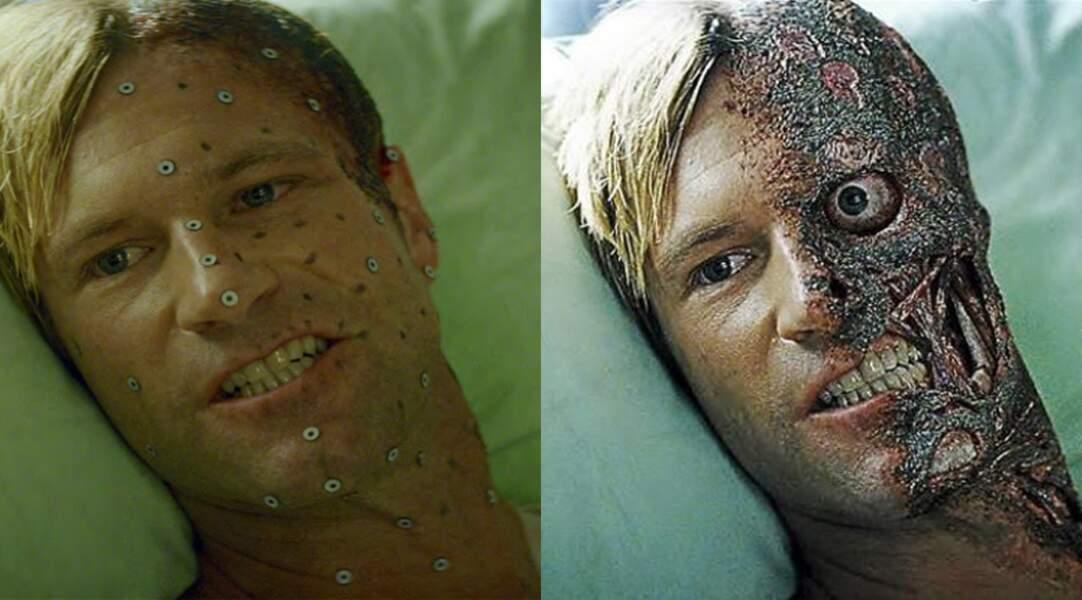 Aaron Eckhart sur le tournage de The Dark Knight : le chevalier noir de Christopher Nolan (2008)