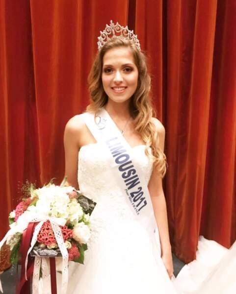 Anais Berthomier (19 ans) a été élue Miss Limousin