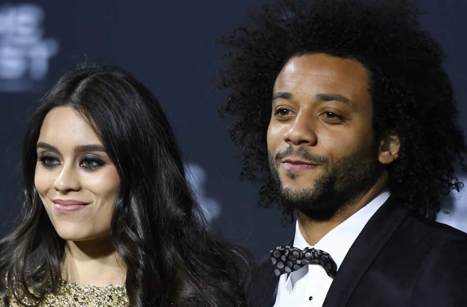 Le Brésilien Marcelo et sa femme Clarice Alves ont également posé devant les photographes