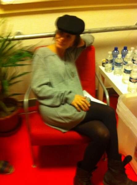 Jenifer dans les coulisses des Enfoirés 2014