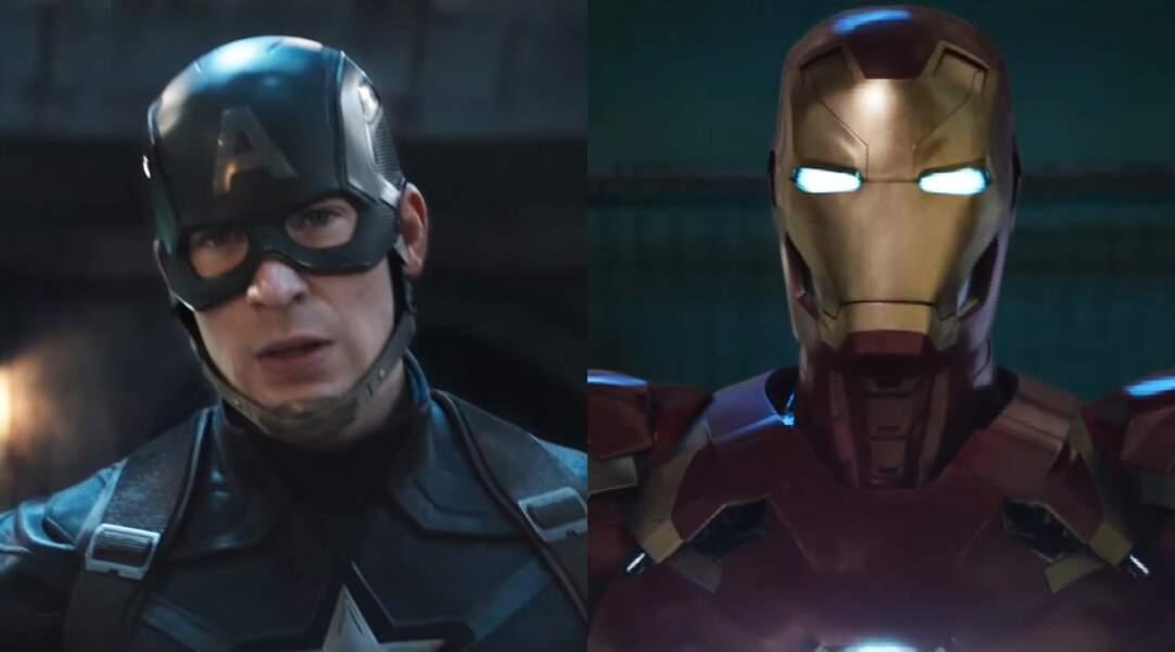 Dans Captain America 3 : Civil War, les Avengers se déchirent. Captain America et Iron Man s'opposent !