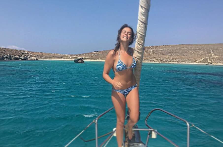 """Pauline Ducruet façon """"My heart will go on"""" en Grèce..."""