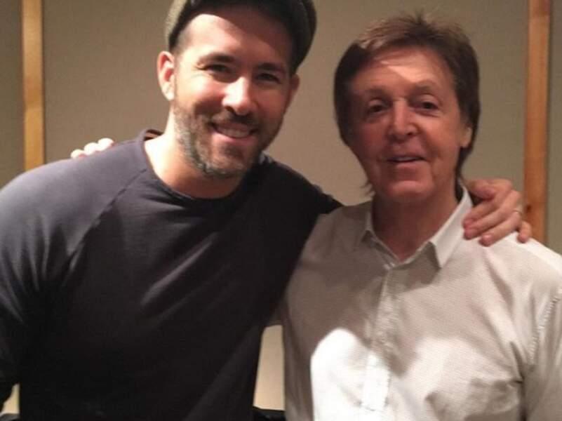 Ryan Reynolds était super heureux de rencontrer Paul McCartney.