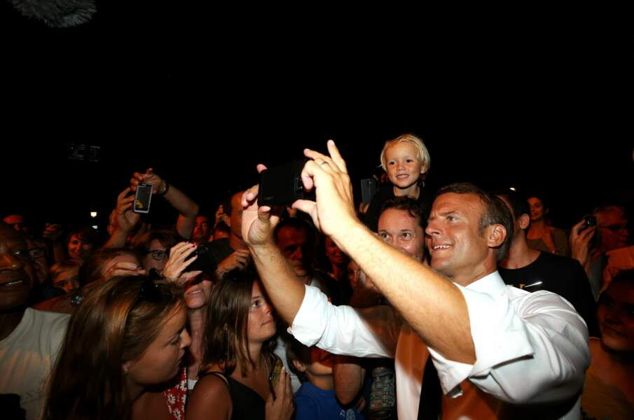 Un exercice qu'Emmanuel Macron adore