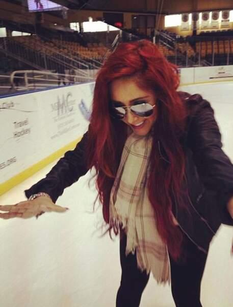 Attention Snooki, on peut vite se faire mal sur la glace !
