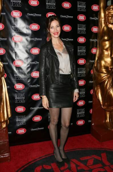 et Mareva Galanter, plus rock, en perfecto et mini jupe en cuir.