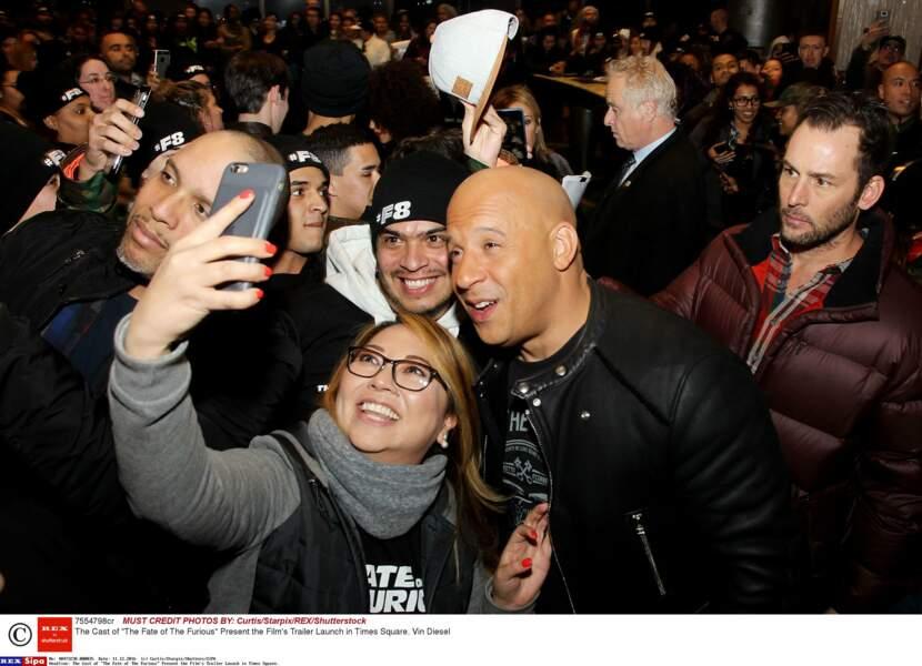 Mais le plus demandé n'était autre que Vin Diesel alias Dominic Toretto dans la saga