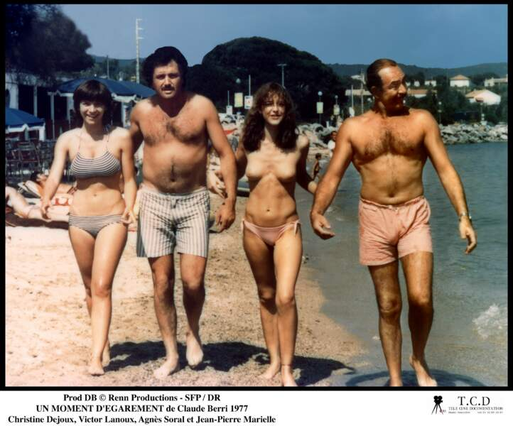 L'acteur tourne pour Claude Berri Un moment d'égarement, avec notamment Agnès Soral et Jean-Pierre Marielle (1977)
